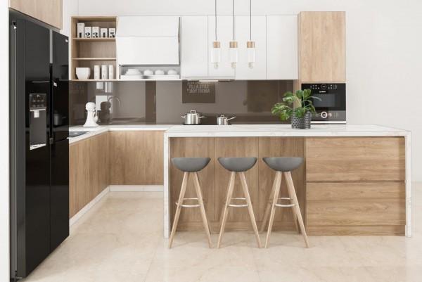 Dự án tủ bếp gỗ hiện đại