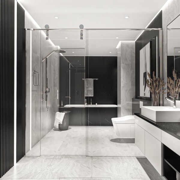 Thiết kế nội thất nhà vệ sinh - toilet 1