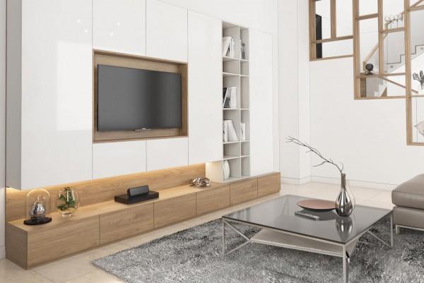 Thiết kế và thi công phòng khách và phòng bếp