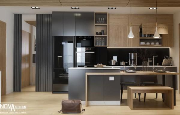 Tủ bếp cao cấp căn hộ chung cư
