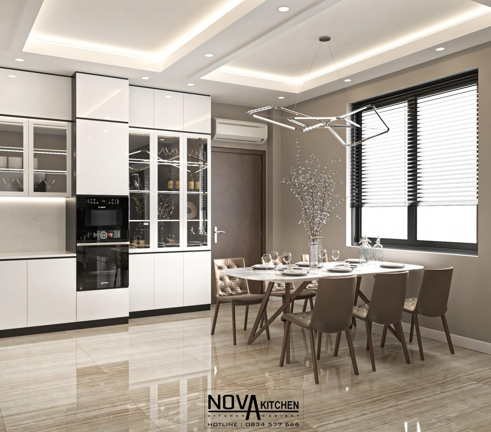 Tủ bếp hiện đại - sự lựa chọn hoàn hảo để tiết kiệm không gian