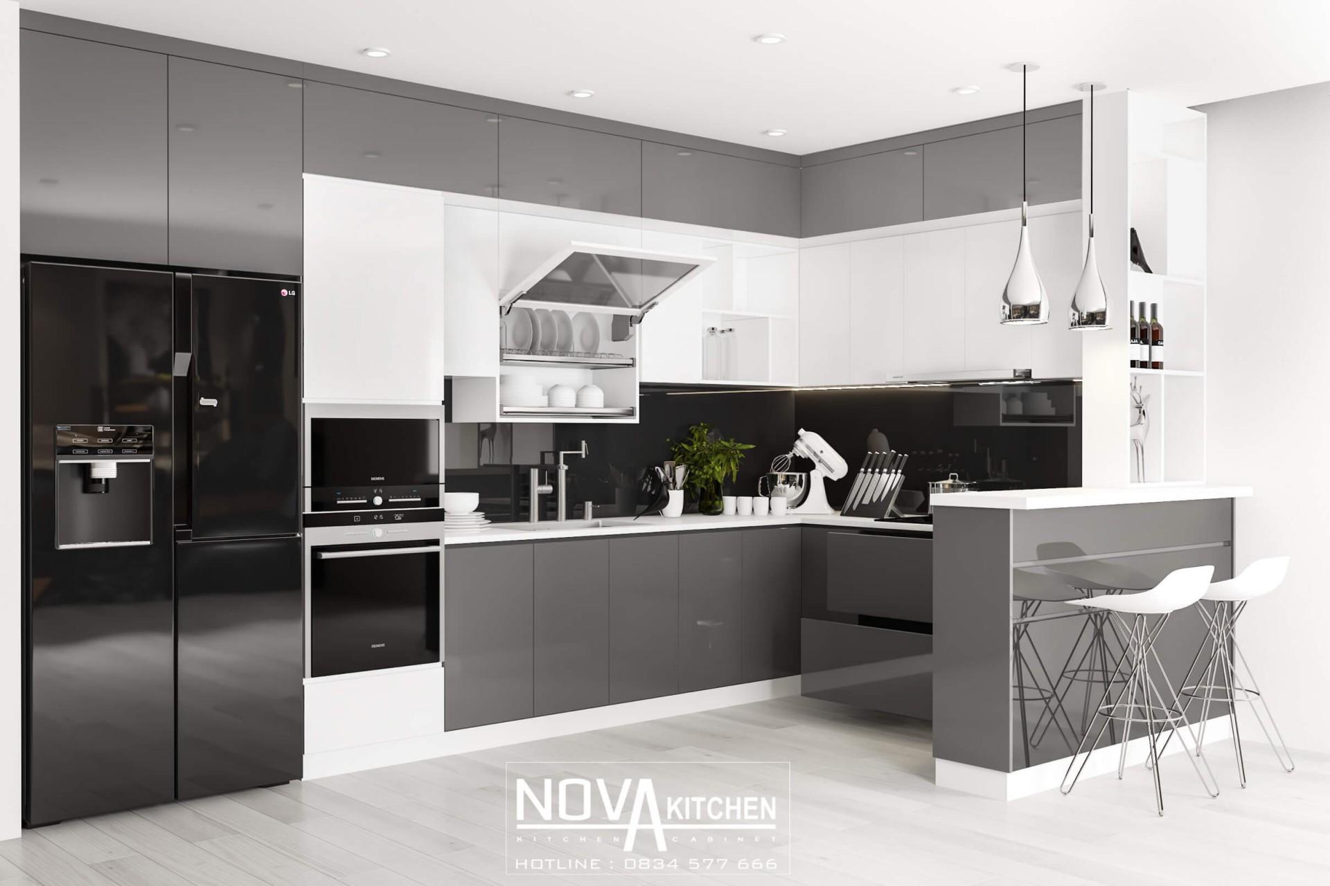 Tủ bếp Acrylic - Sự lựa chọn hoàn hảo cho không gian sang trọng và đẳng cấp